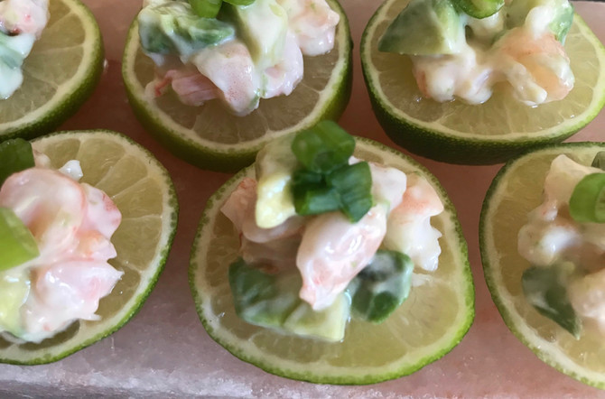 Prawns with Limes