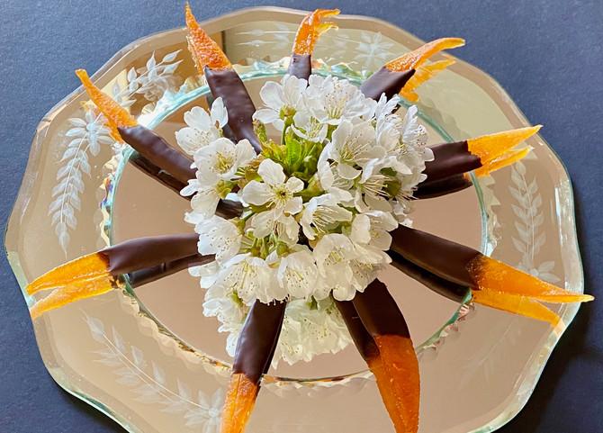 Chocolate orange pieces