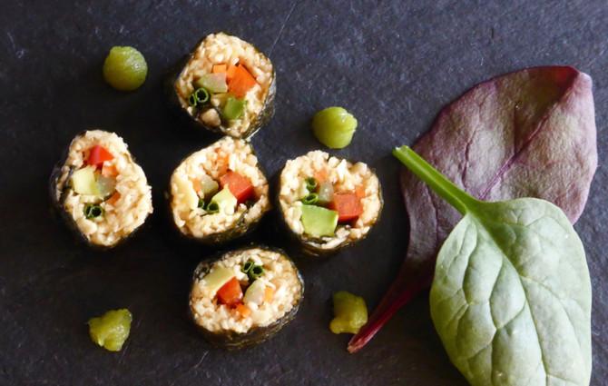 Raw Nori Sushi Rolls