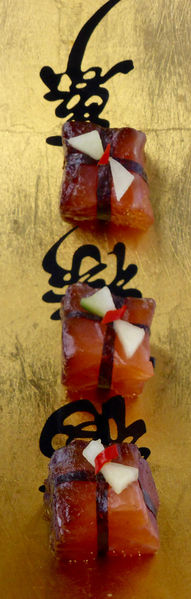 Cured salmon presents