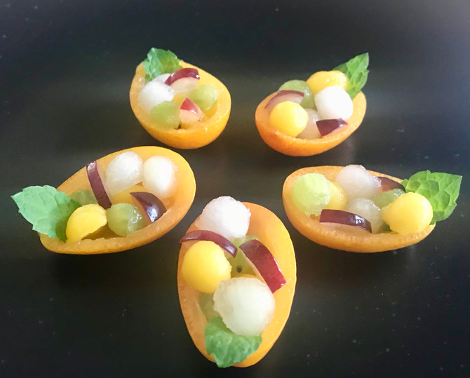 Fruit salad in Kumquats