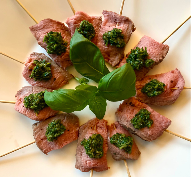 Lamb Fillet with Salsa Verde