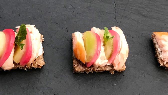 Miniature open sandwiches