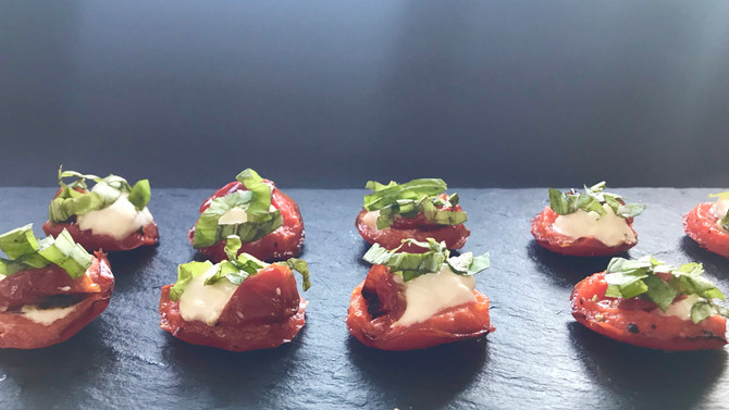 Red Peppers with Burrata