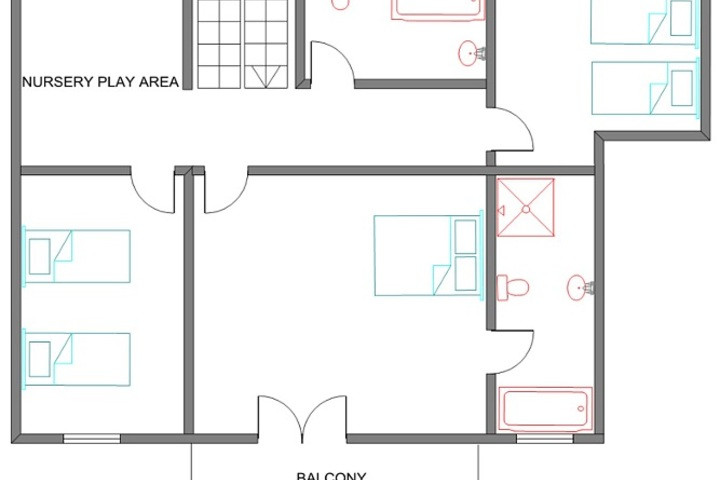 Lay Out Second Floor