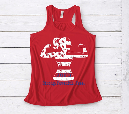 4th of July - Red Racerback Tank