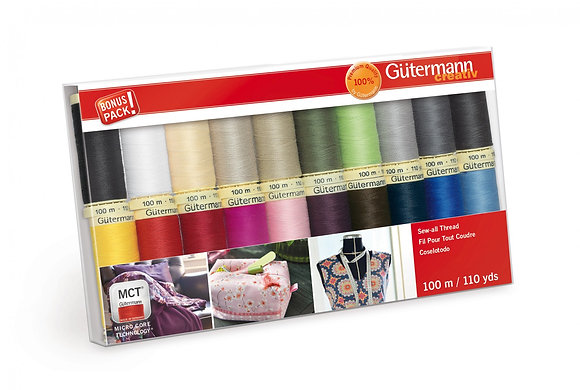 Gutermann Sew-all Polyester Quilting Thread Basic Colors
