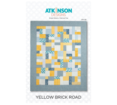 Yellow Brick Road Fat Quarter Quilt Pattern by Terry Atkinson quick and easy beginner quilt pattern