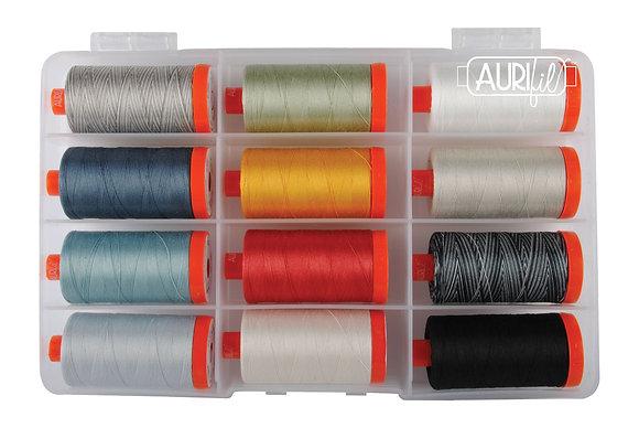 Neutral Architexture Aurifil Mako Cotton Quilting Thread