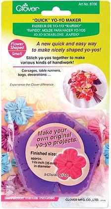 Clover Flower Shape Small Yo Yo Maker Purple