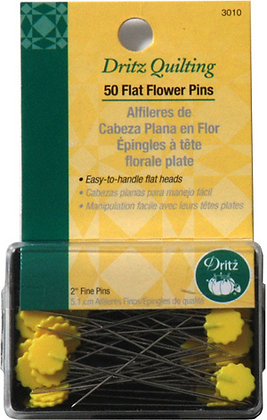 Dritz yellow flat flower straight pins for quilting