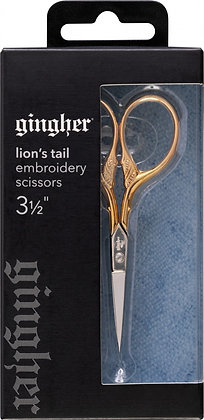 Gingher Gold Handle Lions Tail Embroidery Scissors