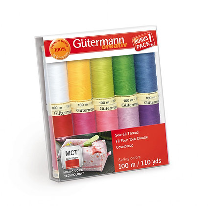 Gutermann Sew-all Polyester Quilting Thread Spring Colors