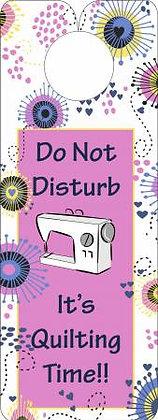 Knobie Talk Do not disturb Door Hanger by Fat Quarter Gypsy