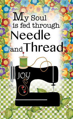 My Soul is Fed Through Needle and Thread Magnet by Jody Houghton