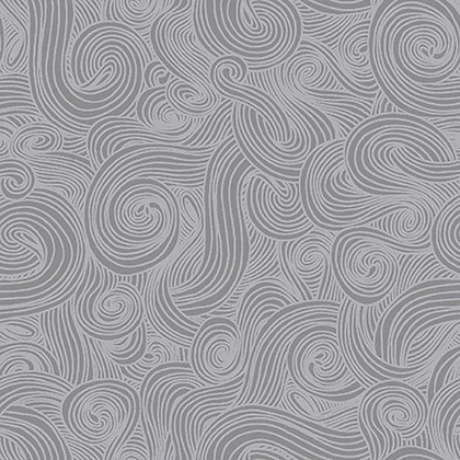 """108"""" wide backing fabric for quilt in pewter swirl studio e just color"""