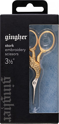 Gingher Gold Handle Stork Embroidery Scissors