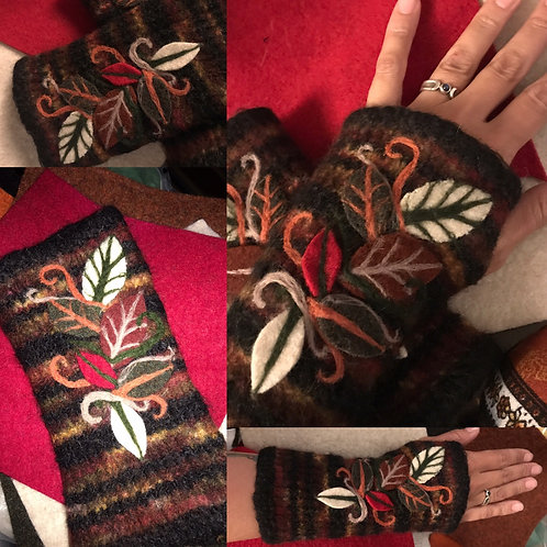 Felted Fall Wrist warmers