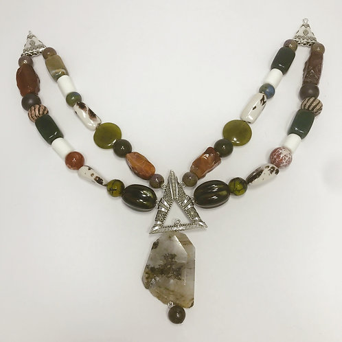 Nordic Viking apron jewelry with gem