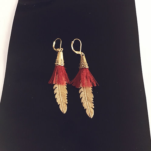 Cone/Tassle and feathers