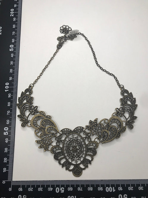 Filigree brass necklace