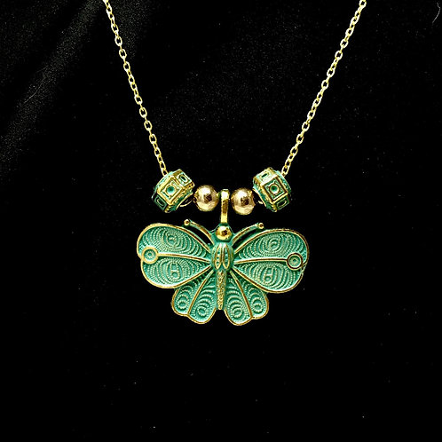 Green Gold Butterfly