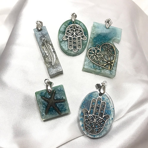 Charmed Resin pendants