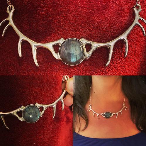 Antler Labradorite Necklace