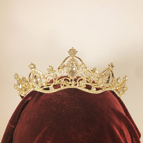 Bright Gold and white Gem Tiara