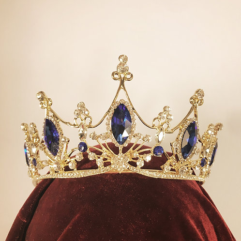 Royal Blue gem Tiara