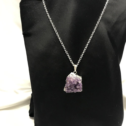 Amethyst with silver
