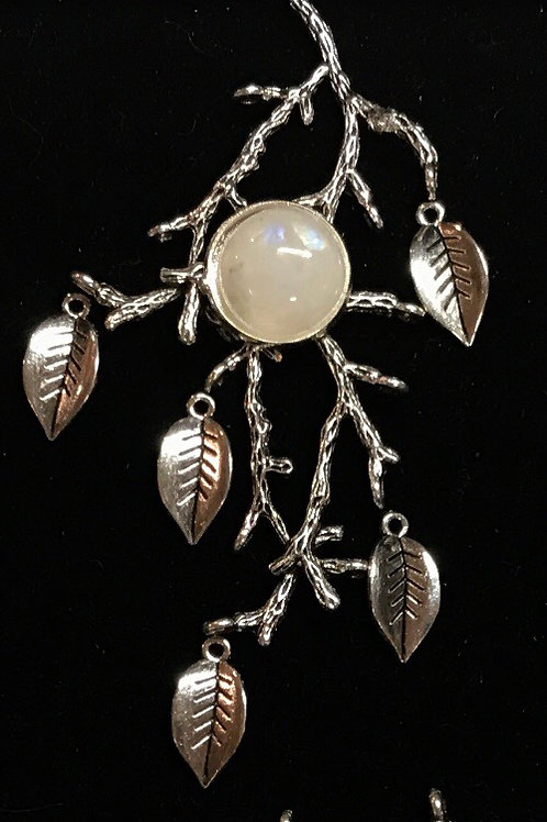 Falling branch with Moonstone