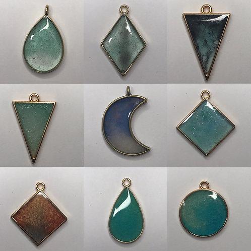 Resin pendants