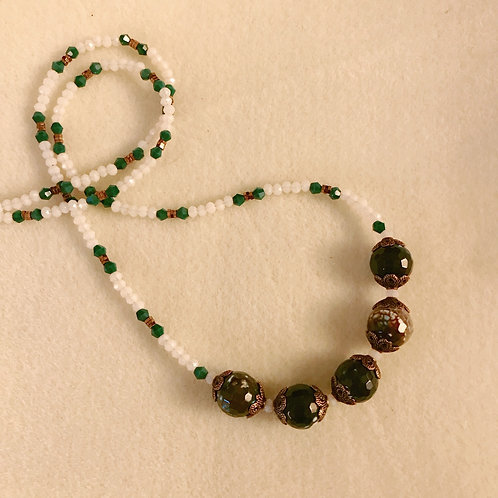 Green Agate with copper