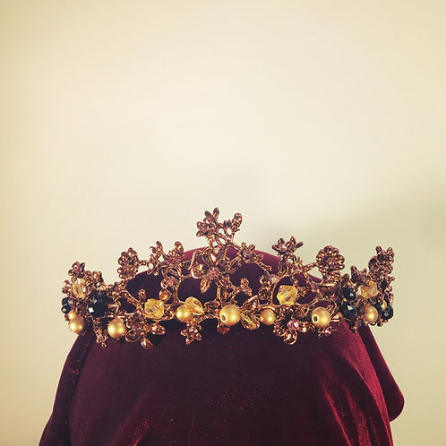 Black Gold and Copper Tiara