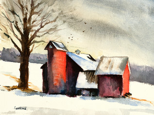 Red Barn and Silo, Vermont