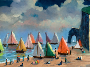 Regatta at Étretat
