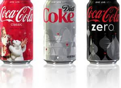 CAN SODA, COKE BRAND, 12 OZ