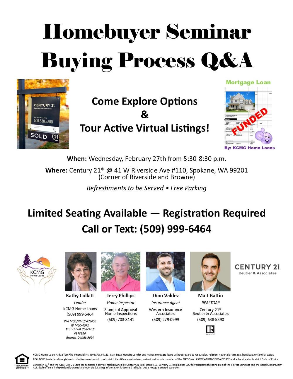Homebuyer Seminar Flyer