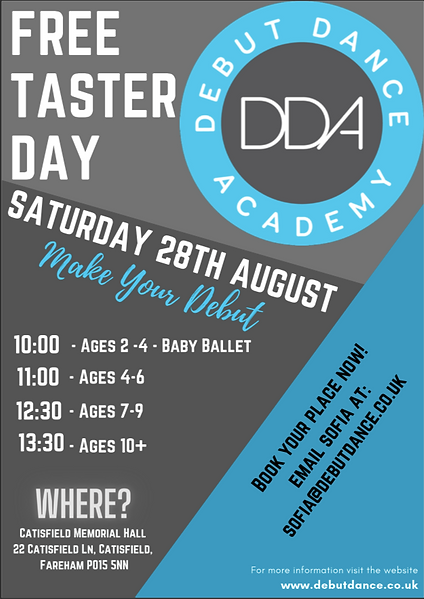 FREE Taster Day at Debut Dance Academy