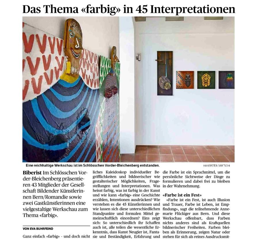 "Ausstellung ""farbig"""