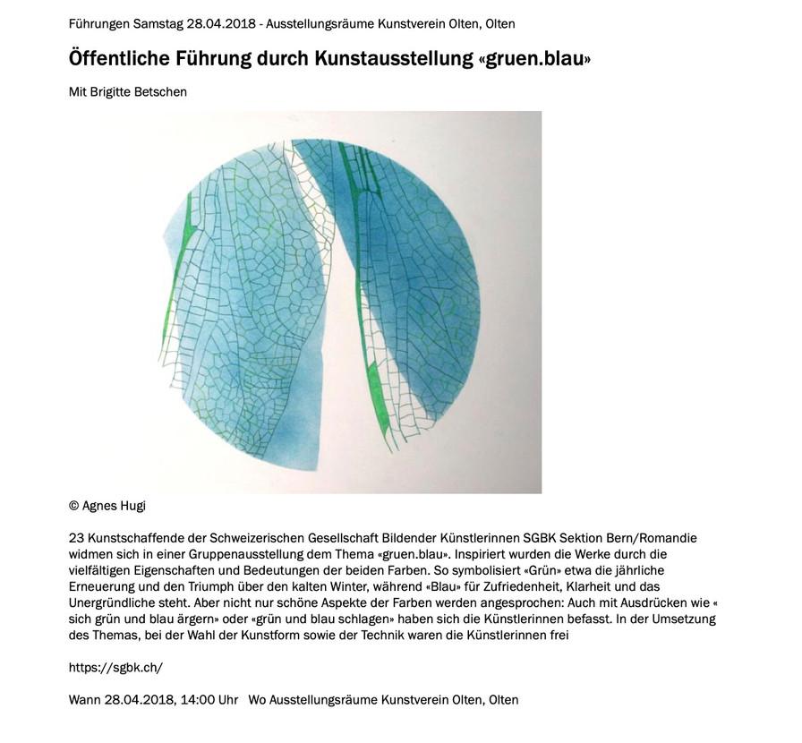 """Ausstellung """"Grün Blau"""""""