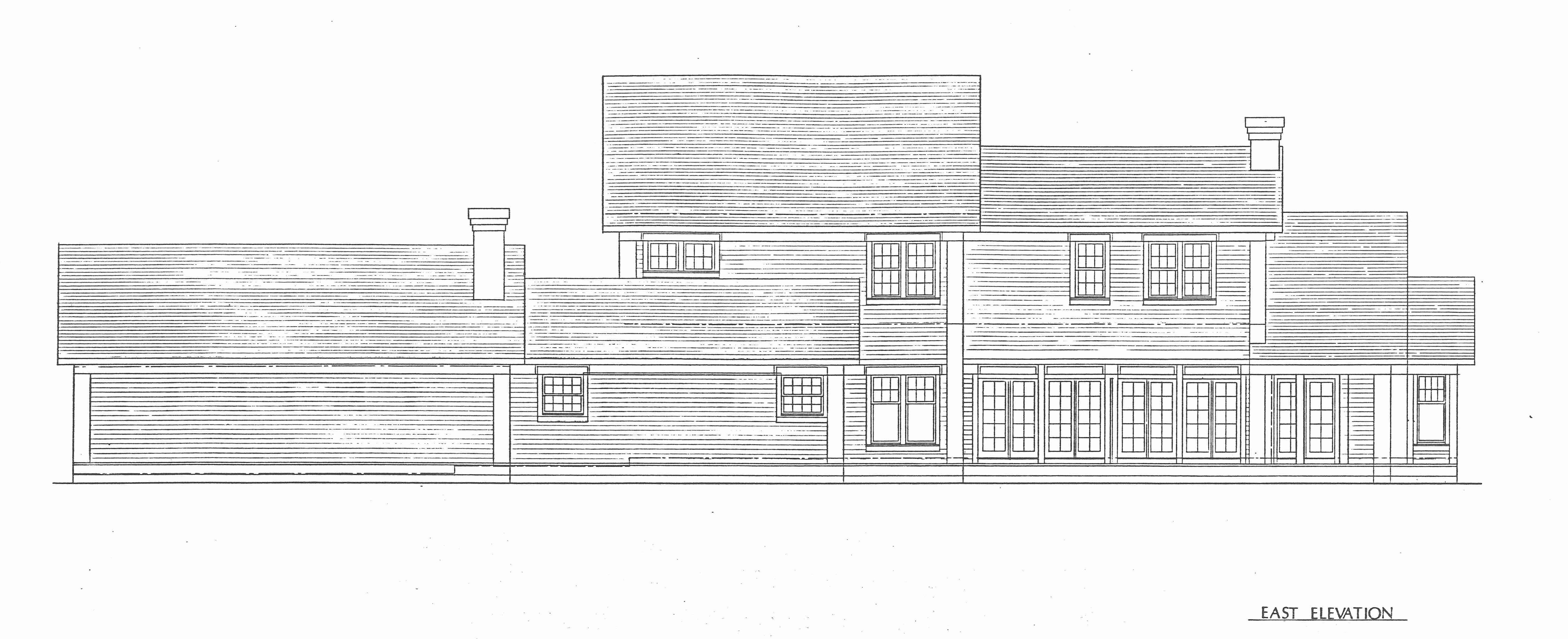 House for West Rd East Elevation
