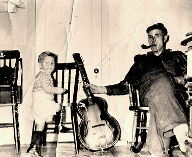 Joshua Bartlett and his son, Wayne Bartlett, 1958