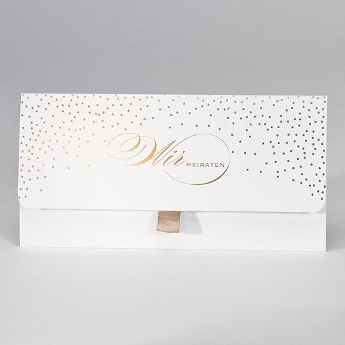Taschenlook-Design mit Konfettis in Goldfolie – Büromac
