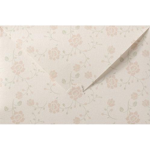 Elegante Pochette-Hochzeitseinladung auf Perlmuttpapier – Belarto