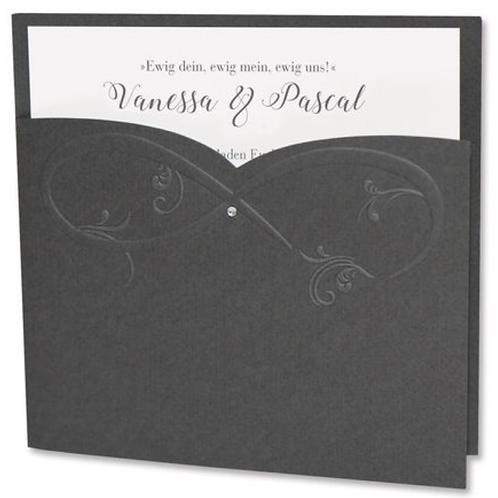 Edle Hochzeitskarte mit Unendlichkeitszeichen – Fenzl