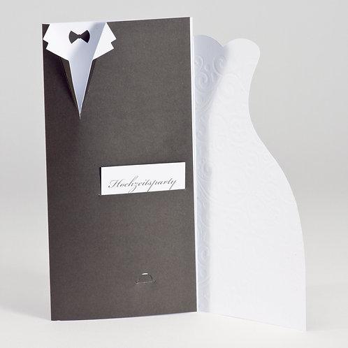 Hochzeitskarte mit gestanztem Anzug und Brautkleid – Büromac