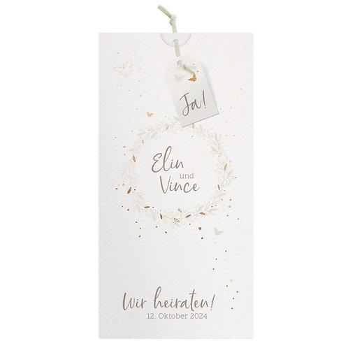 Hochzeitskarte Lorbeerkranz – Belarto
