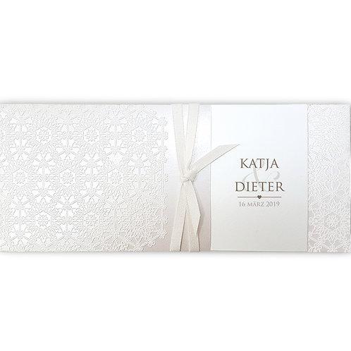 Elegante Einsteckkarte aus Perlmuttpapier – Belarto